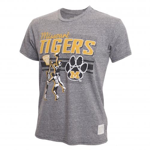 Missouri Tigers Basketball Grey Crew Neck T-Shirt