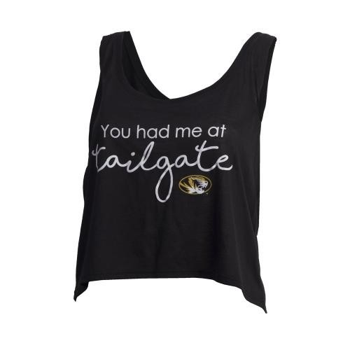 Mizzou Bella + Canvas Juniors' You Had Me at Tailgate Black Tank Top