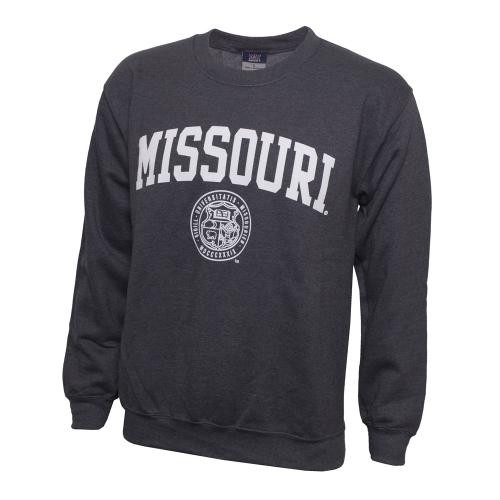 Missouri Official Seal Charcoal Crew Neck Sweatshirt