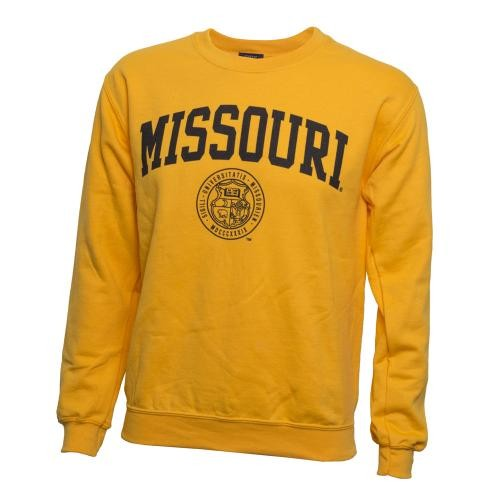 Missouri Official Seal Gold Crew Neck Sweatshirt