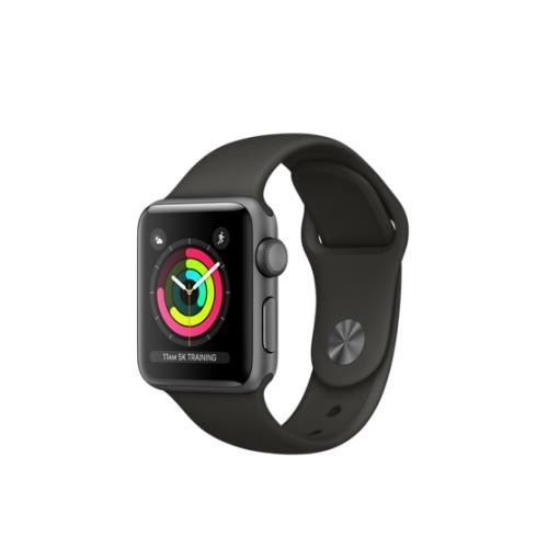 Apple Watch Series 3 GPS 38mm Space Grey Aluminum Case with Black Sport Band