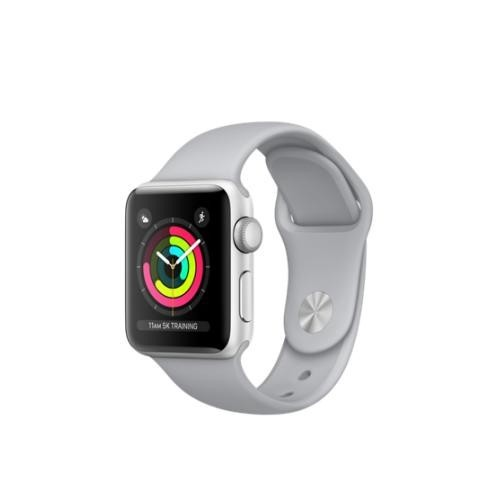 Apple Watch Series 3 GPS 38mm Silver Aluminum Case with Fog Sports Band