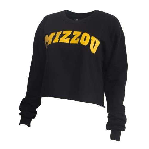 Mizzou Juniors' Black Cropped Sweatshirt