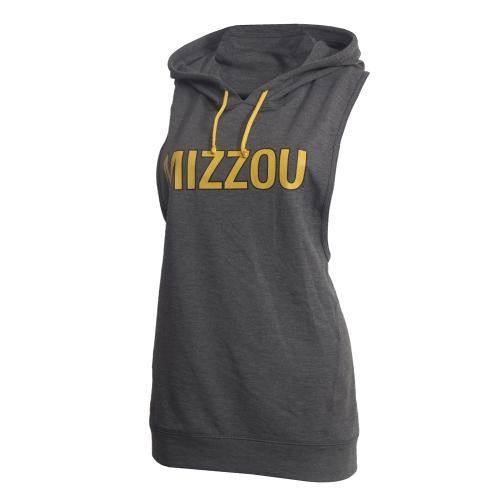 Mizzou Juniors' Grey Open-Back Athletic Hooded Tank Top