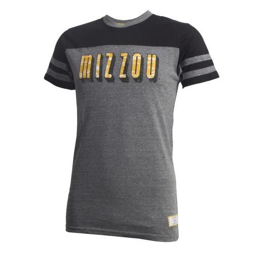 Mizzou Lucky Soul Black & Grey Crew Neck T-Shirt