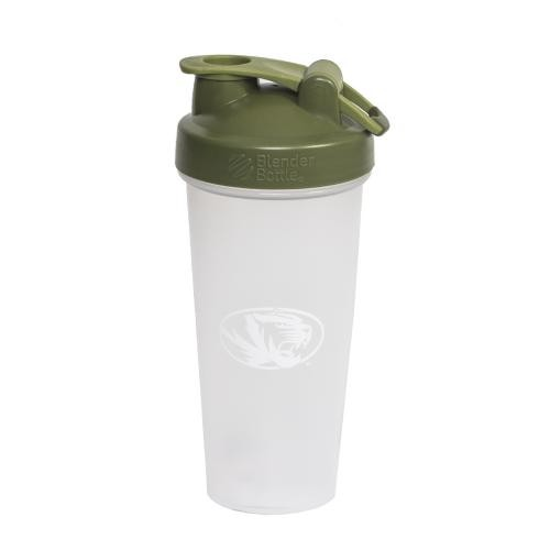Mizzou Oval Tiger Head BlenderBottle&reg with Green Lid