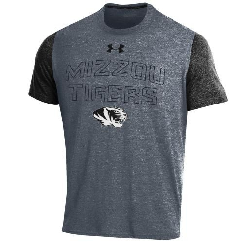 Mizzou Tigers Under Armour Black Athletic T-Shirt