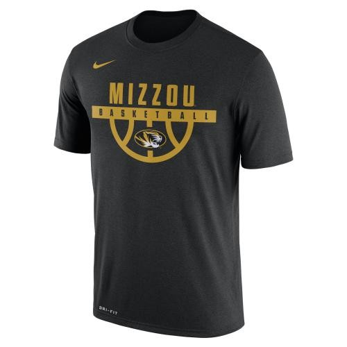 Mizzou Nike&reg Basketball Black & Gold Athletic T-Shirt
