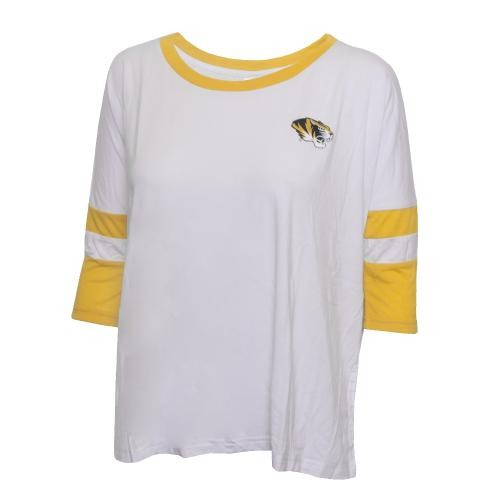 Mizzou Juniors' 39 White & Gold Crew Neck T-Shirt