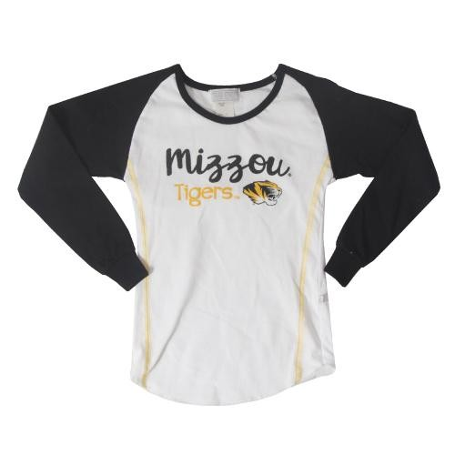 Mizzou Tigers Kids' White & Black Crew Neck Shirt