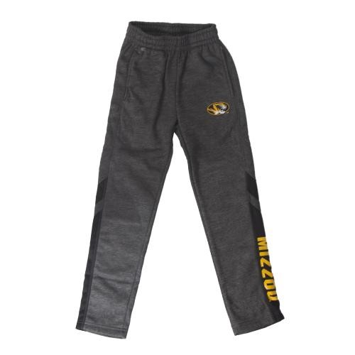 Mizzou Kids' Charcoal Open Bottom Sweatpants