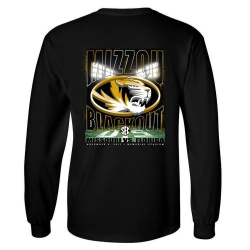Mizzou Tigers vs Florida 2017 Official Blackout Game Day Shirt