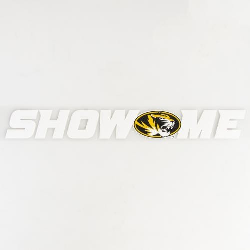 Mizzou Show Me State White Decal