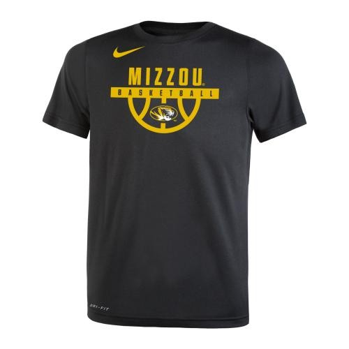 Mizzou Basketball Nike&reg 2017 Kids' Black Crew Neck T-Shirt