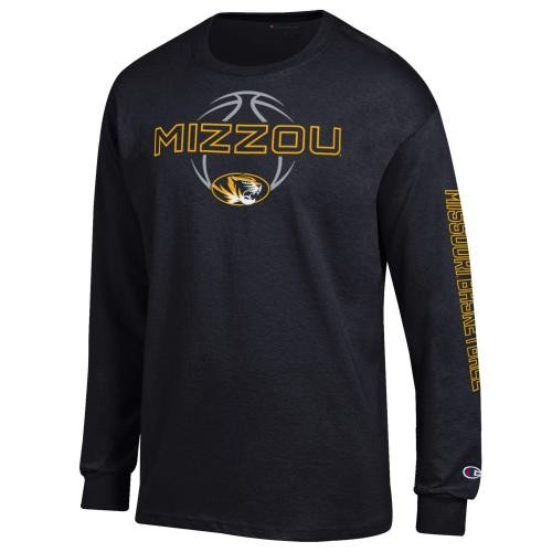 Mizzou Basketball Black Crew Neck Shirt