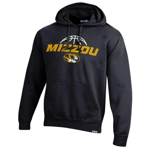 Mizzou Basketball Oval Tiger Head Black Hoodie
