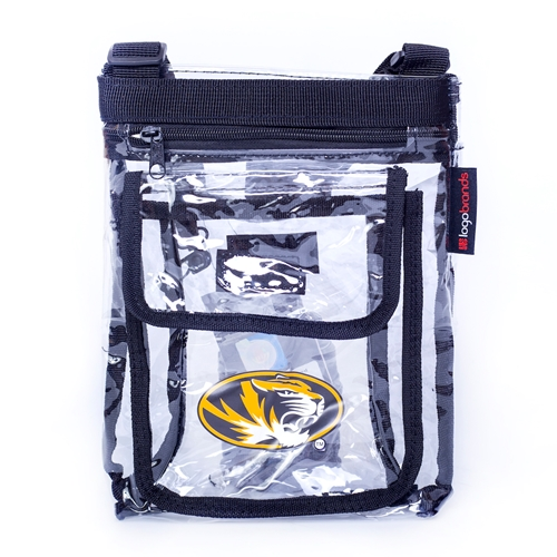 Mizzou SEC Compliant Clear Crossbody Bag