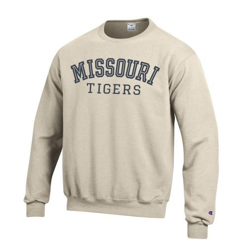 Missouri Tigers Cream Crew Neck Sweatshirt