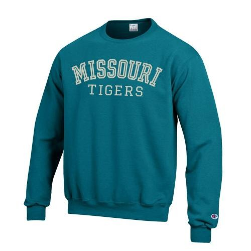 Missouri Tigers Teal Crew Neck Sweatshirt