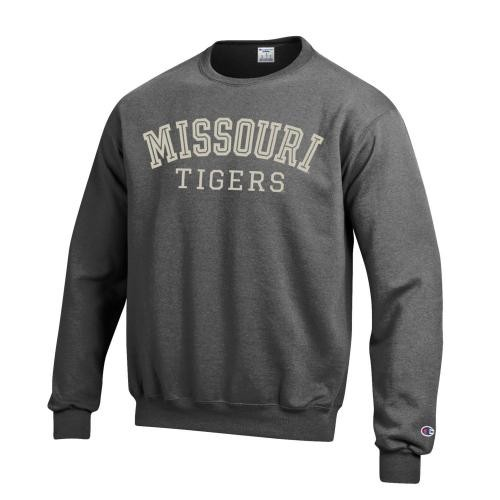 Missouri Tigers Charcoal Crew Neck Sweatshirt