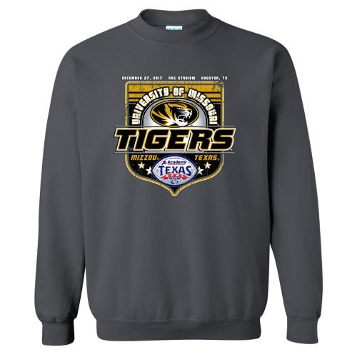 Mizzou Tigers 2017 Texas Bowl Charcoal Official Sweatshirt