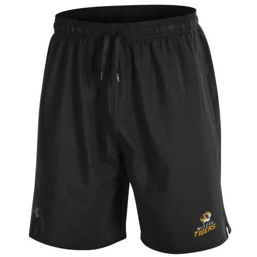 Mizzou Tigers Under Armour Black Athletic Shorts