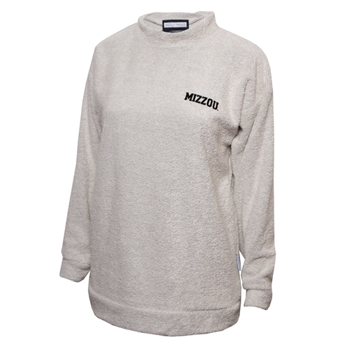 Mizzou Woolly Threads™ Juniors' Off White Crew Neck Sweatshirt