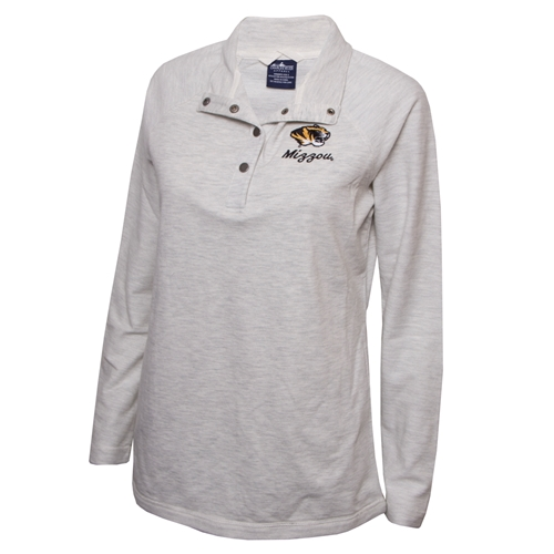 Mizzou Women's Tiger Head Off White French Terry Sweatshirt