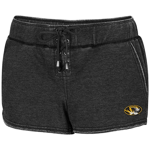 Mizzou Juniors' Oval Tiger Head Charcoal Shorts