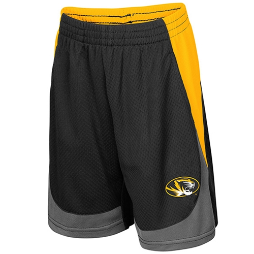 Mizzou Toddler Black & Gold Shorts