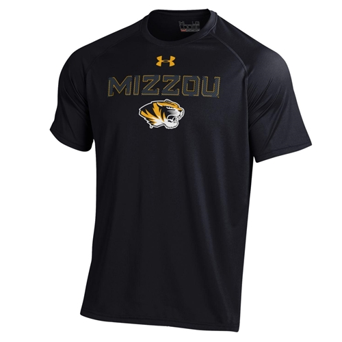 Mizzou Under Armour Tiger Head Black Athletic T-Shirt