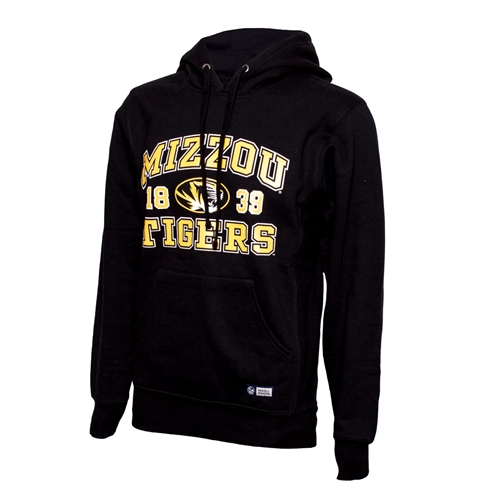 Mizzou Tigers Oval Tiger Head Black Hoodie