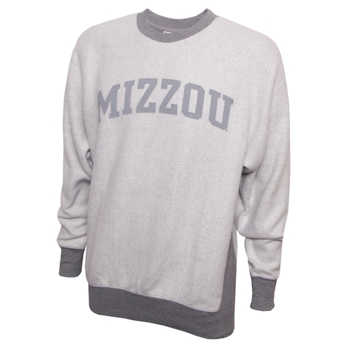 Mizzou Inside Out Grey Crew Neck Sweatshirt