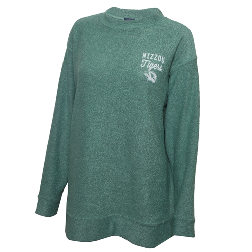 Mizzou Tigers Juniors' Teal Crew Neck Sweatshirt