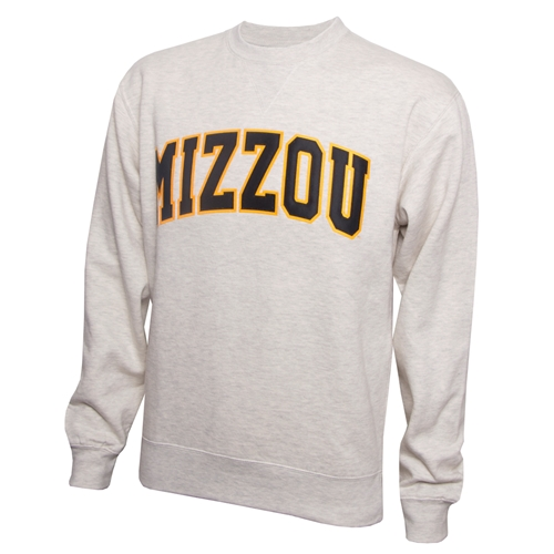 Mizzou Off White Crew Neck Sweatshirt