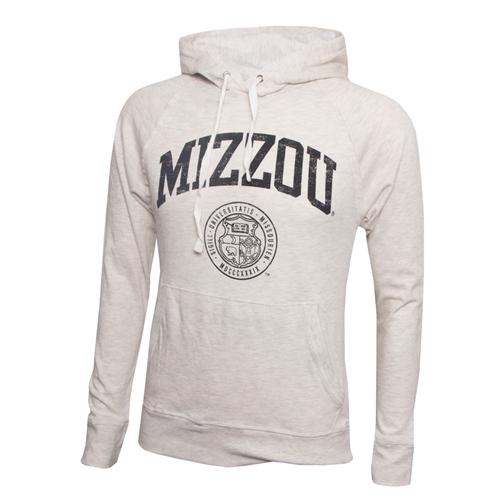 Mizzou Official Seal Cream Hooded Shirt