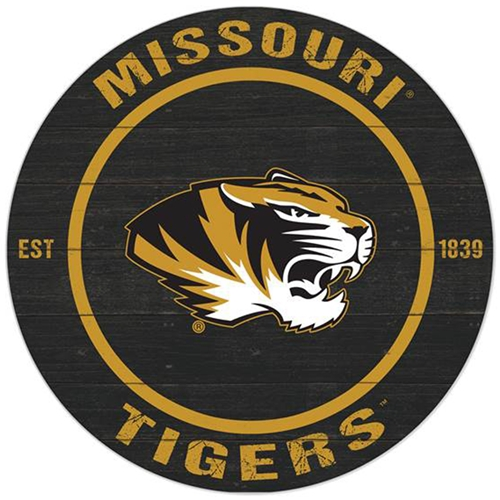 size 40 45de7 b75dd Missouri Tigers Round Indoor Outdoor Sign
