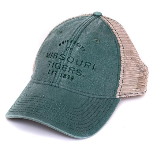best service 4f0b3 4e2a5 Missouri Tigers Juniors  Dark Green Trucker Hat