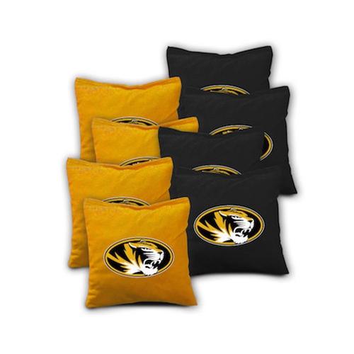 Mizzou Bag Toss Refill Pack of 8 Black/gold