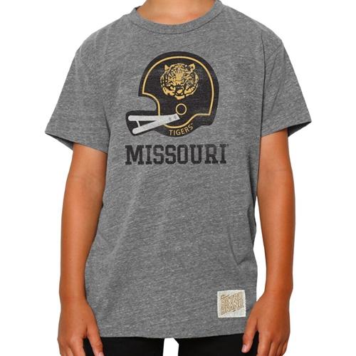 ef2582e96c39 Missouri Tigers Classic Collection Kids' Vintage Football Helmet Nickel  Grey T-Shirt