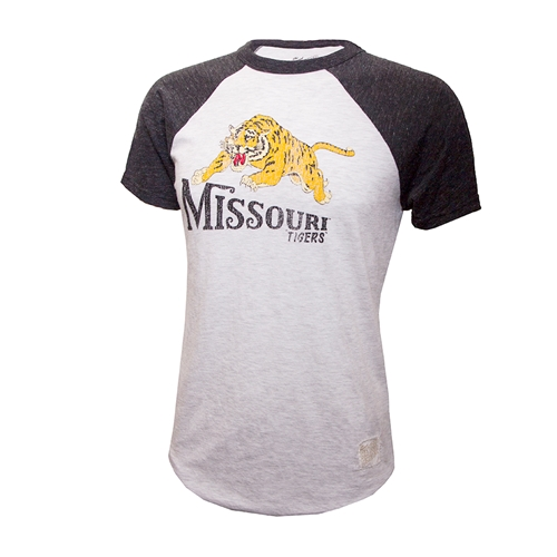 low priced 5c2cc 3a154 Missouri Classic Collection Vintage Tiger Grey T-Shirt Adult Xx Large Grey  - Ash