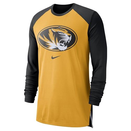 a9355686c8f Mizzou Nike® Black & Gold Crew Neck Shirt Adult Small Black/gold