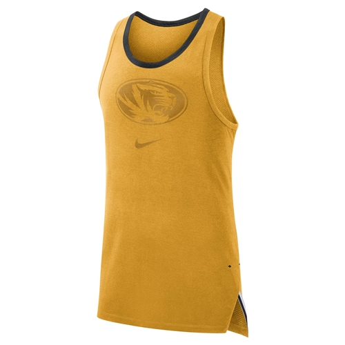 Mizzou Nike® Gold Athletic Tank Top
