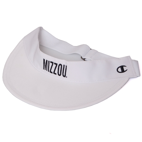 Mizzou Juniors' White Adjustable Visor
