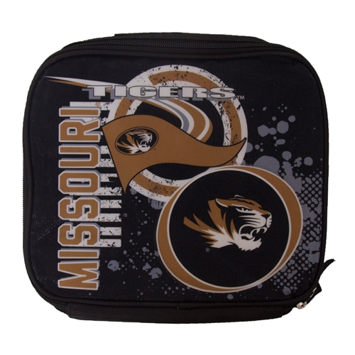 Missouri Tigers Glitter Black & Gold Lunch Bag