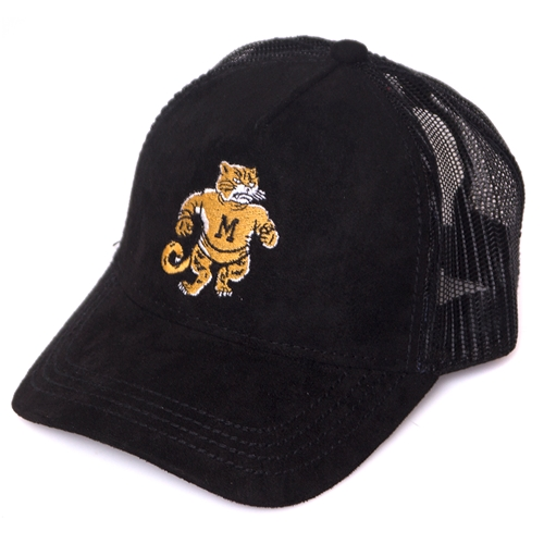 67197c8e1a Mizzou Juniors  Black Suede Trucker Hat