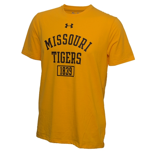 4e2beeb8 The Mizzou Store - Missouri Tigers Under Armour Gold Athletic T-Shirt