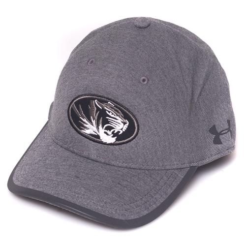 a6b04280b Mizzou Under Armour Oval Tiger Head Black Stretch-Fit Hat Small/medium Black