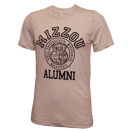 Mizzou Alumni Official Seal Off White Crew Neck T-Shirt