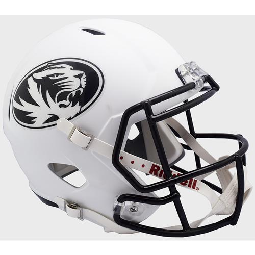 43838684ff1 The Mizzou Store - Mizzou Oval Tiger Head White Replica Football Helmet